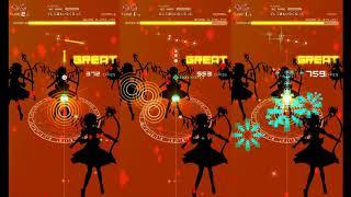 player:(kRRm)u!(ゲスト) 〈イヤホン装着時〉 左から SIMPLE, NORMAL ...