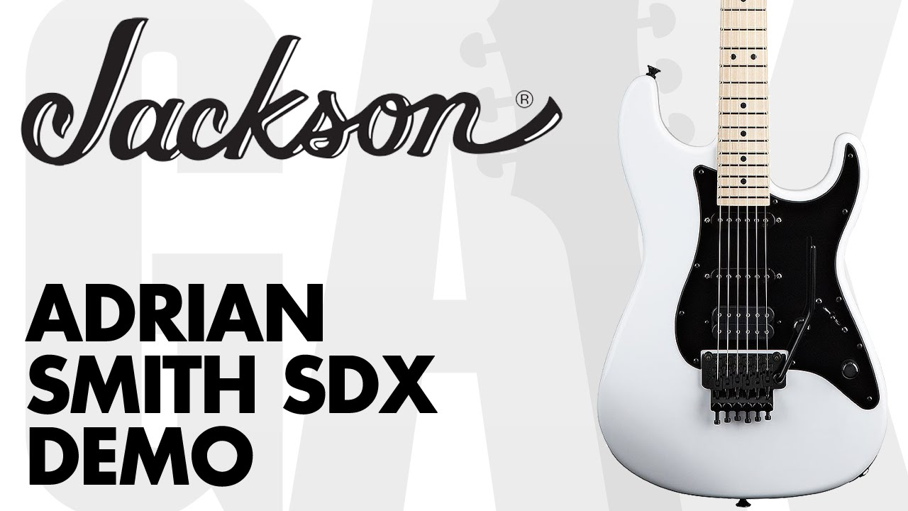 jackson adrian smith signature sdx demo at gak youtube. Black Bedroom Furniture Sets. Home Design Ideas