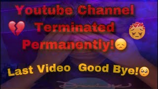 YOUTUBE CHANNEL TERMINATED!😭 | Last Video Good Byee!😞 | PUBGM | Vampire YT