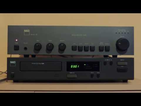 Vintage Hi-fi: NAD 5330 cd player (1987), NAD 3020 amp (1980), NAD 8225 speakers (1989)