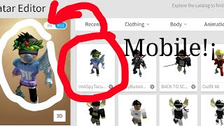 How To Make A Roblox Outfit On Mobile