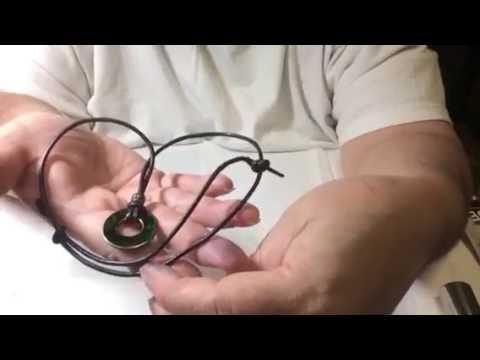 dab6ec71ca8e Como hacer un collar con cuero y metal. - video   19. - EnjoyArt ByLizzy