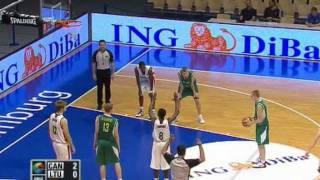2010年U-17男子バスケ世界選手権 3位決定戦 カナダ vs リトアニア 1stQ1/2