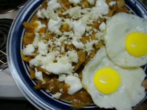 Receta De Ricos Chilaquiles Menus Para Ricos Desayunos