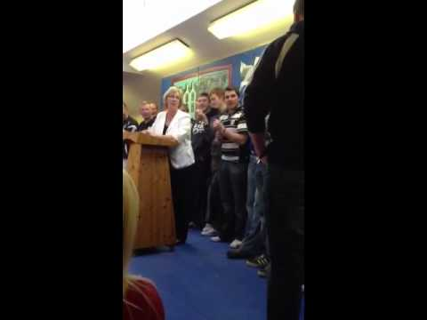 Castletownbere Champions visit Beara Community School
