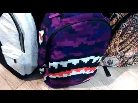 d2534930ee Batoh Pixel Shark Purple od Sprayground