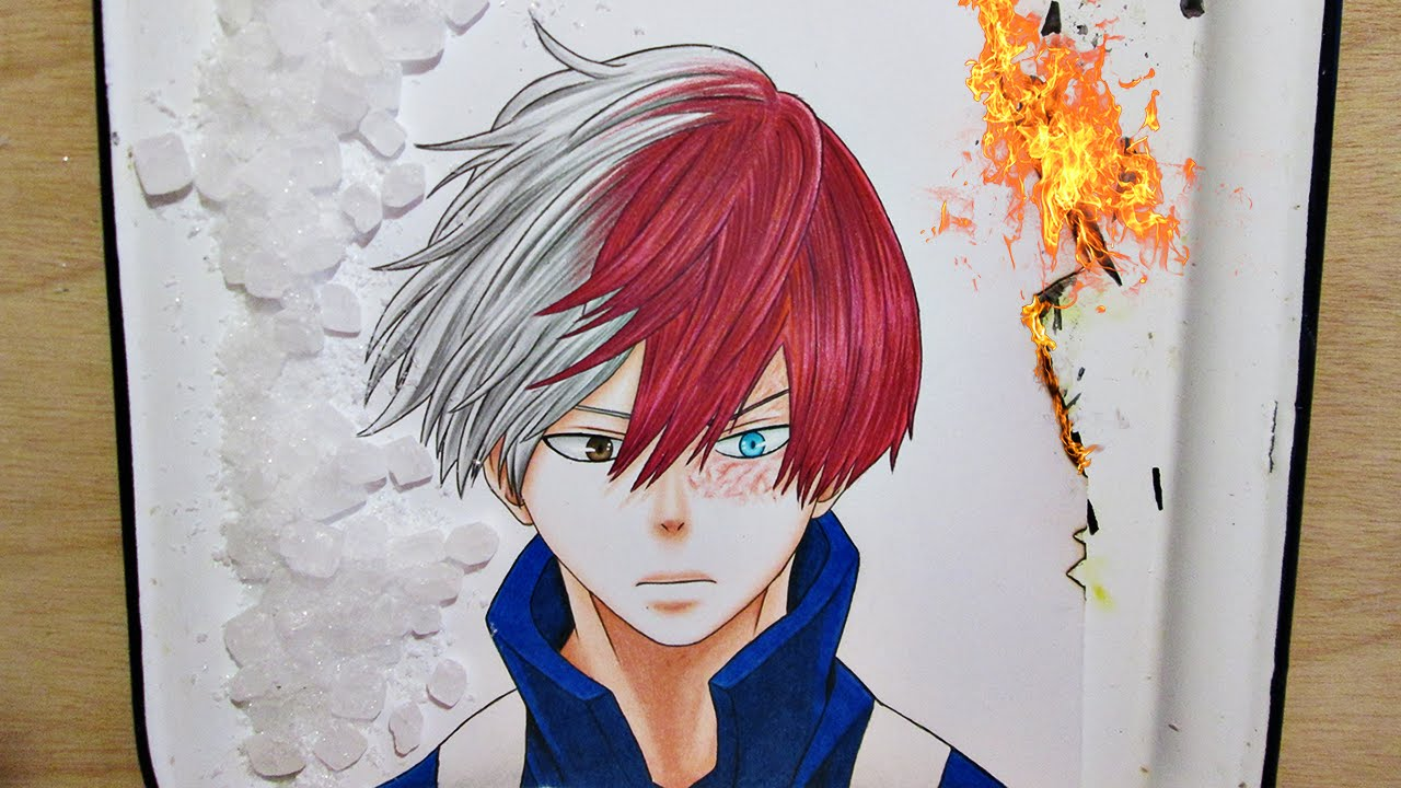 Speed Drawing Shouto Todoroki My Hero Academia Youtube