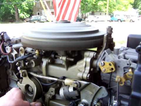 1977 Evinrude 55 hp after tuneup - YouTube