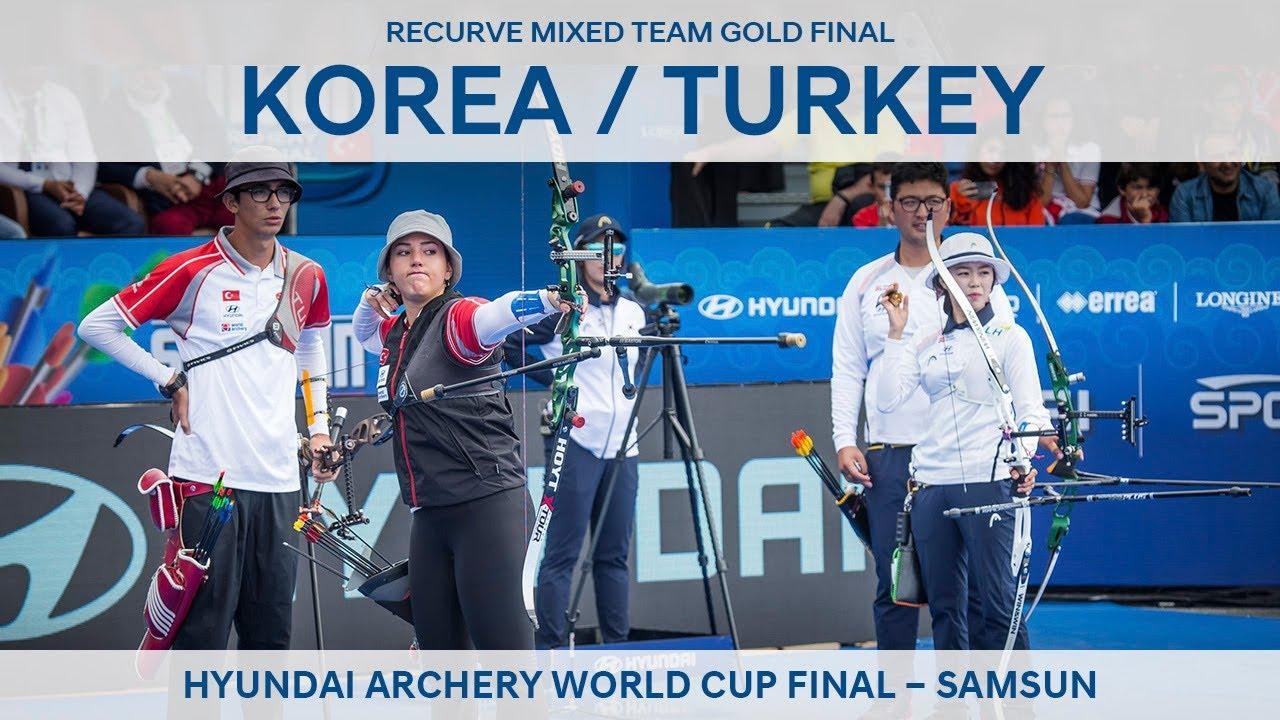 Korea v Turkey – recurve mixed team gold final | Samsun 2018