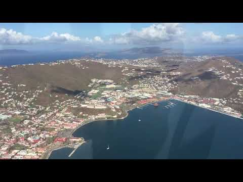 9/17/17 Aerial Footage Charlotte Amalie flyby St Thomas USVI after Hurricane Irma