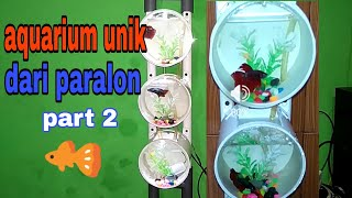 Gambar cover aquarium unik dari paralon part 2
