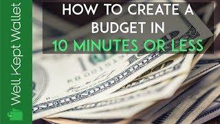 Wie, ein Budget zu Erstellen in 10 Minuten oder Weniger