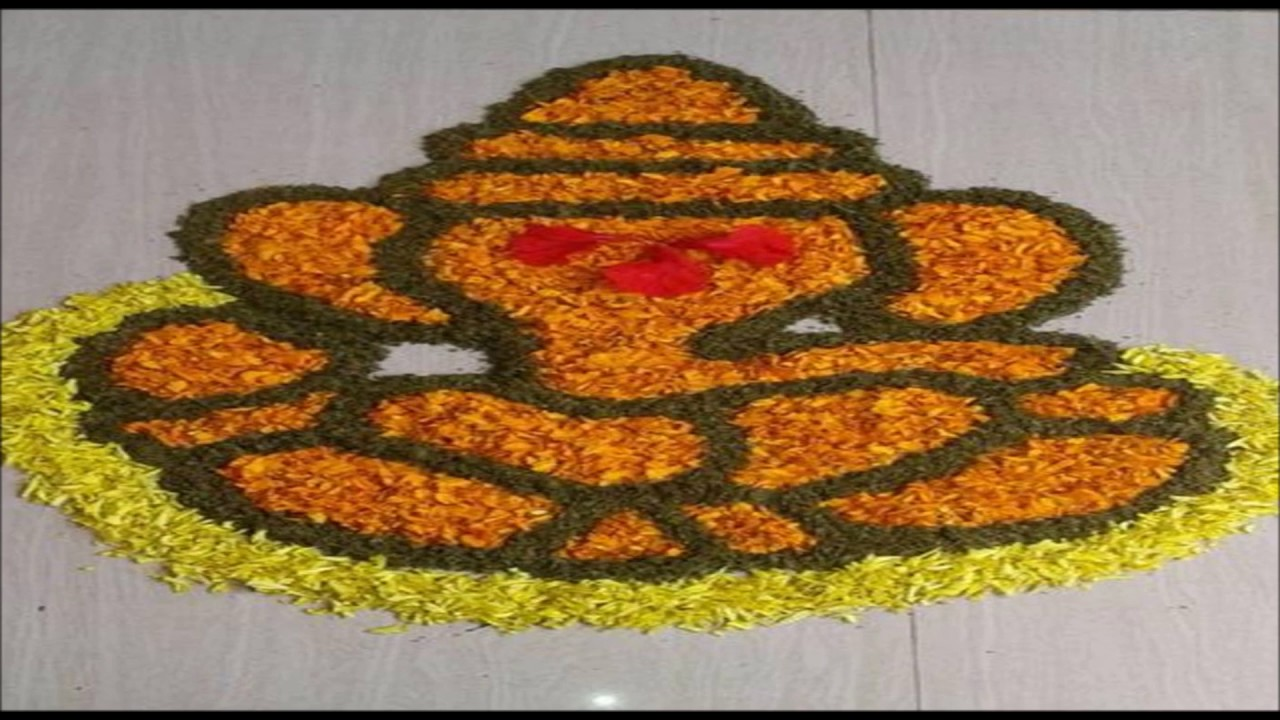 Beautiful Flower Rangoli Designs | Diwali 2016 decoration ideas ... for Flower Rangoli Designs For Diwali  303mzq