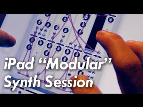 iPad Modular Synthesizer Music (Modular iOS App) #TTNM