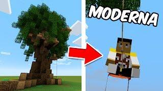 Minecraft - Casa del Árbol MODERNA y AUTOMÁTICA (Muchos mecanismos)