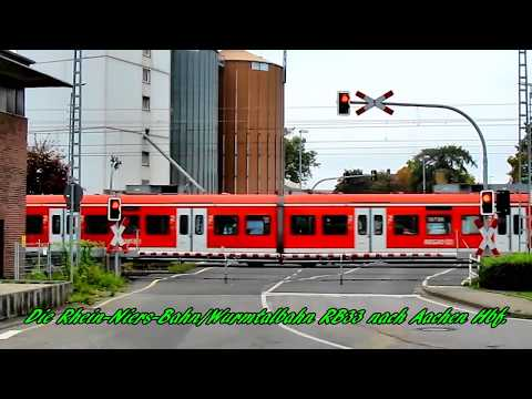 T-Kreuzung mit Bahnübergang bei Lindern, Kreis Heinsberg(Neu bearbeitet)