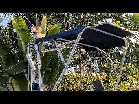 Arch Bimini on Rib Boat Tender