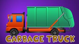 Mengenal Truk Sampah | Permainan Anak Animasi Kartun | Video untuk anak-anak