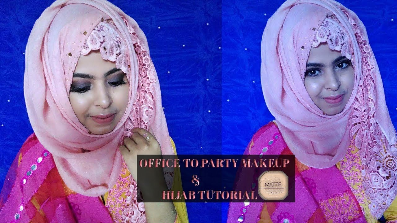 4 Easy Steps Office To Party Makeup Tips With Hijab Tutorial || Safrin Prity - YouTube