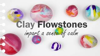 FUN ART PROJECT TO DO WITH YOUR KIDS - DIY Polymer Clay Stone