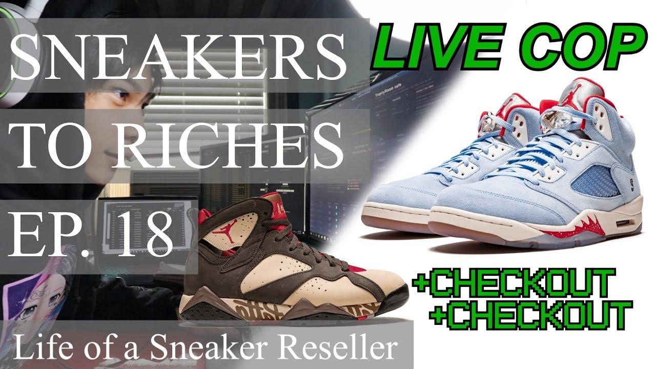 san francisco 0cab4 ac91e Sneakers To Riches Episode 18 - LIVE COP JORDAN 5 TROPHY ROOM, JORDAN 7  PATTA, FEAR OF GOD