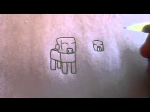 Image of: Cute How To Draw Minecraft Animals Youtube How To Draw Minecraft Animals Youtube