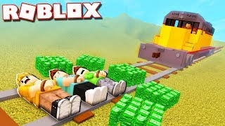 JAILBREAK TRAIN ROBBERY GONE WRONG IN ROBLOX!