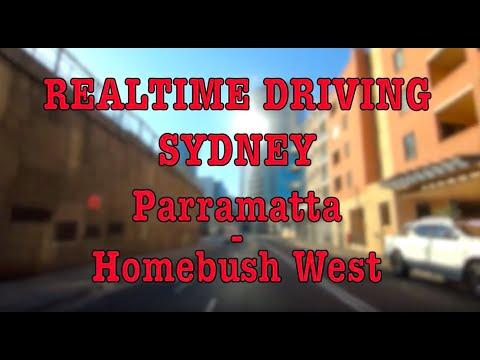 parramatta---homebush-west- -realtime-driving- -sydney- -jan-20