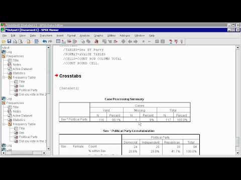 SPSS 16 - (2) Data Analysis pt 1