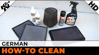 k air filter cleaning german