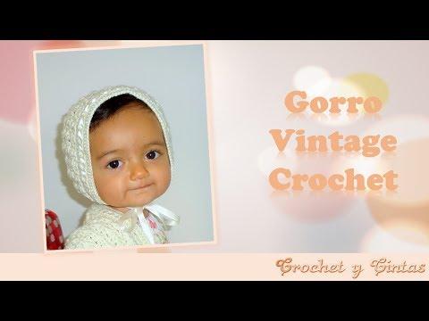 Gorro Vintage Bebé Crochet - Parte 1 de 2