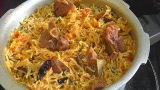 MUTTON BIRYANI IN PRESSURE COOKER/quick & easy mutton biryani recipe