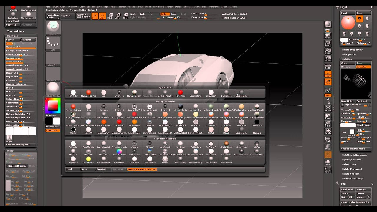 ZBrush 4R2 setting up studio lights on a Car Tutorial & ZBrush 4R2 setting up studio lights on a Car Tutorial - YouTube azcodes.com
