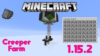 How to Minecraft: Very Fast Creeper Farm 1.15.2 Java Edition!
