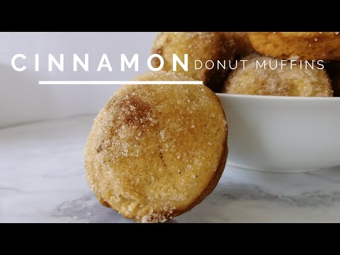 Cinnamon Donut Muffins - Oven Baked Not Fried!