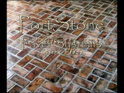 Portstone Brick Flooring Video Youtube