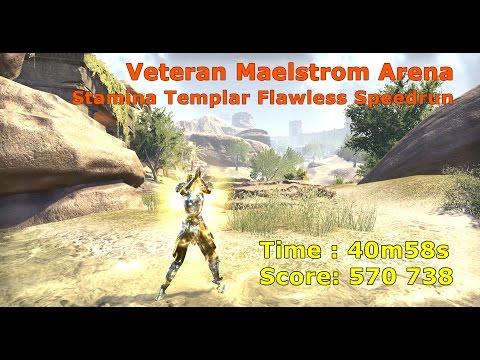Stamina Templar, Maelstrom Arena Veteran Flawless Speedrun