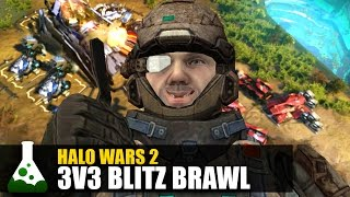Halo Wars 2 - Blitz Brawl! (3v3 Gameplay)