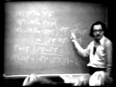 Sidney Coleman lecture 01
