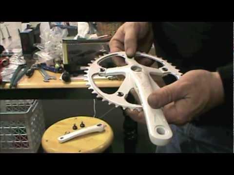 Purple Fixed gear Crankset w//bottom bracket  165mm 46t cranks track fixie single