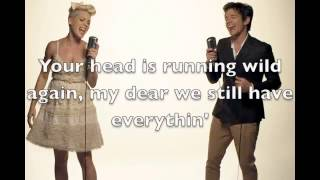 Just give me a reason - Pink & Nate Ruess - Karaoke female version lower (-2)