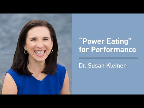 "Dr. Susan Kleiner on ""Power Eating"" for Optimal Athletic Performance"