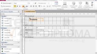 Fügen Sie in den FormularKopf des Formulars Produktformular ein Bezeichnungsfeld mit dem Text...