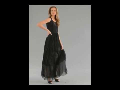 Von Vonni Dakota Long Evening Black Dress