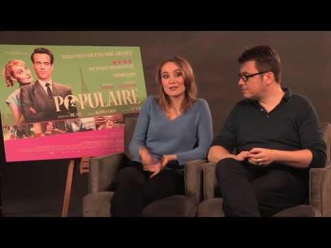 populaire--junket-interviews---régis-roinsard,-déborah-françois-and-romain-duris