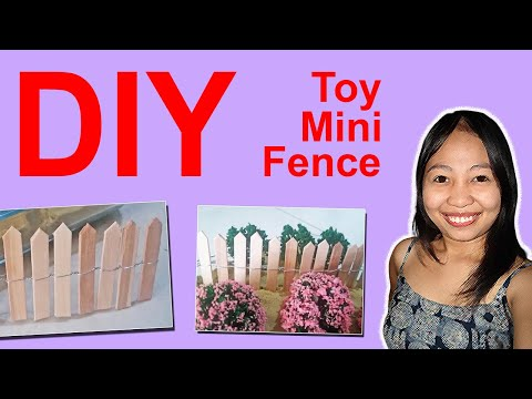 DIY Toy Fence Miniature | How to make Miniature toy fence