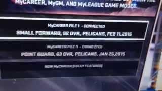 NBA2K15 Corruption File Video