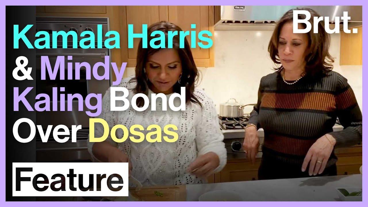Kamala Harris And Mindy Kaling Bond Over Dosas Youtube