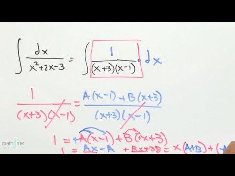 Integración por fracciones parciales│ejercicio 1
