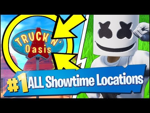 VISIT THE SHOWTIME VENUE, USE KEEP IT MELLO AT A TRUCKER'S OASIS, ICE CREAM (Fortnite Showtime